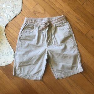 Boys J Crew tie waist kaki shorts